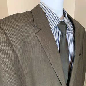 Andrew Fezza Nail Head Brown Sport Coat 48 L